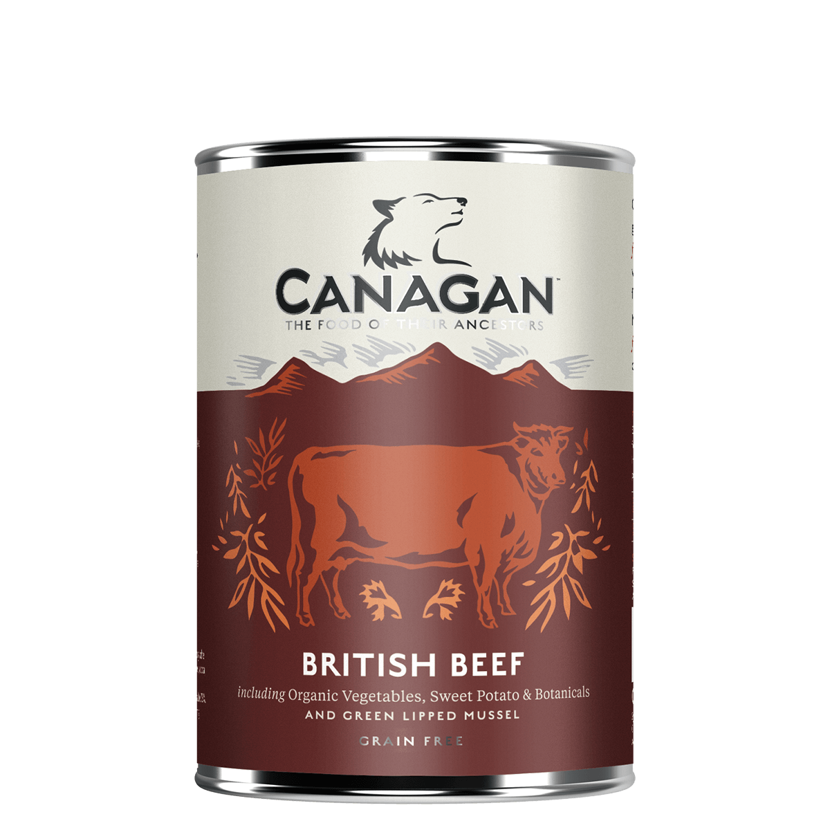 Canagan Dog Food Can British Braised Beef 400g X 6